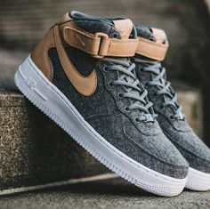 3f20e81537cb7 NIKE Women s Shoes - Felt x Leather Air Force 1 07 Mid Premium - Find deals  and best selling products for Nike Shoes for Women