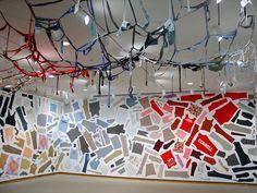 fabric/starch wallpaper art installation!