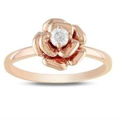 @Overstock - Round white diamond  ring10-karat pink gold jewelry Click here for ring sizing guidehttp://www.overstock.com/Jewelry-Watches/Miadora-10k-Pink-Gold-1-6ct-TDW-Diamond-Flower-Ring-G-H-I2-I3/6072840/product.html?CID=214117 $260.99