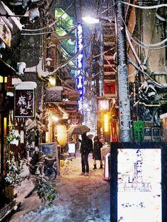 Japan,city in winter