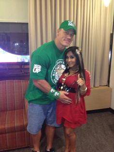 WWE's John Cena and me in the Greenroom at Good Morning America. @JohnCena