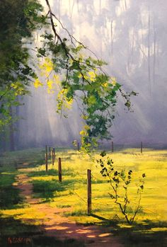 Great example of light and shadow, and atmospheric perspective. Sunrays by G.Gercken