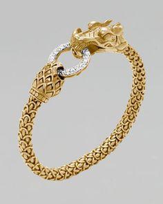 John Hardy Gold Naga Dragon Diamond O-Ring Bracelet - Neiman Marcus $11,500.00