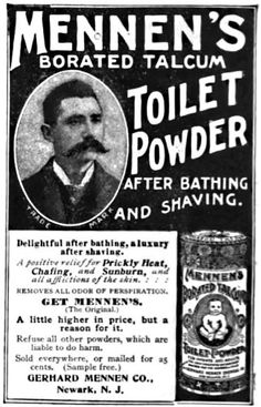 Collectibles 1900-09 Original Advertising Page Sufficient Supply Talcum Powder Old Mennens Borated Toilet Antique Ad