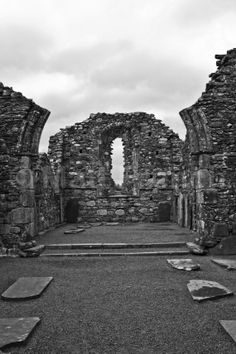 Stone Arch Photo, Irish Heritage - 'Shattered Hallow' - Fine Art Photographic Print, Monastery, Irish Architecture, Photo Print UNFRAMED Architecture Photo, Photographic Prints, Irish, Fine Art, Stone, Places, Pictures, Photos, Rock