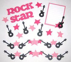 Rock Star Pink Scrapbook Layout Kit