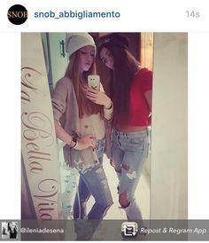 Bellissime le nostre SNOB GIRLS @jessicacanaglia @ileniadesena SNOB GENERATION  iscriviti alla newsletter sul sito www.vitasnob.com #facciamomoda #onlytop #italianstyle #abbigliamento #brand #blogger #bellavita #beautiful #cool #crazy #coomingsoon #crazyforsnob #dresscode #dompe #estate #esageriamo #fashion#effettosnob #instagram #lifeissnob #labellavita #moda #milano #novita #news #clienti #clientisoddisfatti #noncifermiamomai#snobabbigliamento