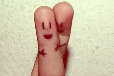 Hugging... Even if it's just two fingers together... LoL!