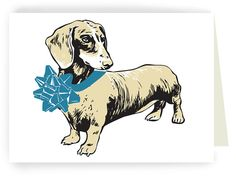 Dachshund with Bow - Boxed Set of 8 Cards