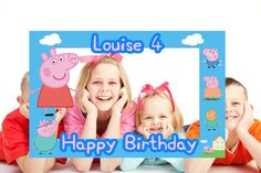 Peppa Pig Photo Frame Digital File Childs Photo Frame
