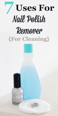 Acetone based nail polish remover works great for removing nail polish from your fingernails, but it also has lots of great cleaning uses around your home. Here are 7 great ways to use nail polish remover in your home. #ad