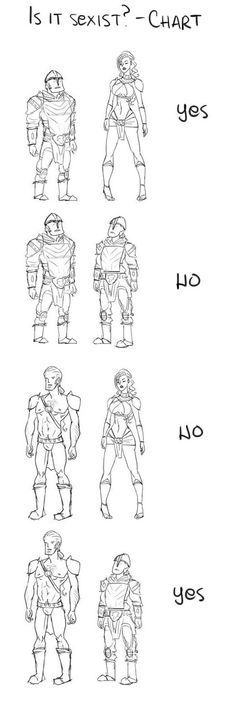 Character Design - Is it Sexist? Chart http://geekxgirls.com/article.php?ID=4286