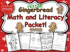 Gingerbread Math and Literacy Unit (free)