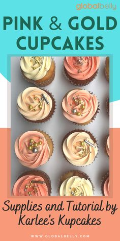 Celebrate any occiasion in style by baking these gorgeous these cupcakes! They are as delicious as they are stylish! cupcakes, pink & gold cupcakes, cupcake mix, cupcakes decoration, cupcake supplies, delicious cupcake, stylish cupcakes, cupcake recipes, healthy cupcakes, cupcake tutorial, cakes aesthetic. #cupcakes #cupcakestyle #cupcakesupplies #cupcaketutorials #buttercreakmix #globalbelly