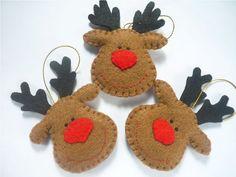 Felt reindeer faces!!