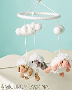 Amigurumi Sheep Baby Mobile pattern by Amigurumi Aşkına