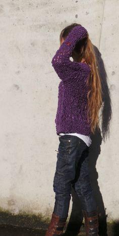 Purple oversized grunge sweater LTd Edition by ileaiye on Etsy, $100.00