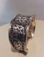 Lois Hill Sterling Silver Cuff Bracelet 72g