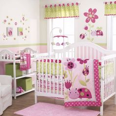 Lil Lady Bug 3-Piece Girl Crib Bedding Set