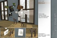 Sway's Photo holder [Reindeer] VIP group gift http://maps.secondlife.com/secondlife/SwayLand/187/168/31