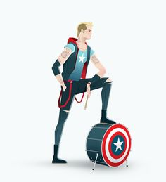 Super Rockers by Andrés Moncayo, via Behance