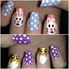 Easter 2014! Bunnies and chicks with cute dots and pastel colors