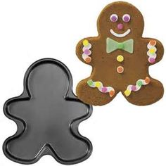 This recipe makes enough to fill 1 Wilton gingerbread cookie mold.   1/2 cup shortening 1/2 cup sugar 1/2 cup molasses + 2 TBS 1 egg 2 1/2 cups flour 1/2 teaspoon baking soda 1/2 teaspoon salt 1...
