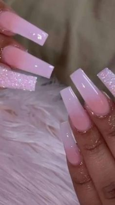 Acrylic Nails Coffin Pink, Long Square Acrylic Nails, Long Square Nails, Pink Acrylics, Stiletto Nails, Colored Acrylic Nails, Simple Acrylic Nails, Clear Acrylic, Nagel Bling