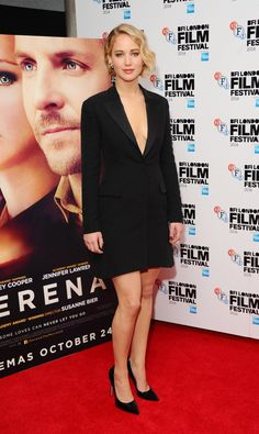 Pin for Later: Here's Jennifer Lawrence Picking Her Poster's Nose at the Serena Premiere