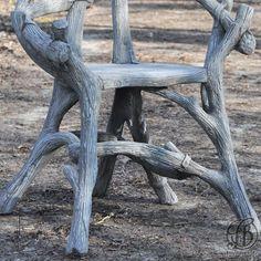 Faux Bois - Rocaille - Ciment - Fauteuil Deadwood - Fred Bross'Art - 3
