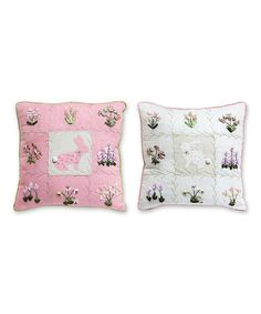 Look at this Easter Bunny Pillow Set on #zulily today!