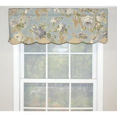 RLF Home Floral Bouquet Petticoat Window Valance (Sage), Green Cotton, Check) Valance Window Treatments, Window Treatment Store, Kitchen Window Treatments, Window Coverings, Valances For Living Room, Living Room Windows, Kitchen Windows, Living Rooms, Best Windows