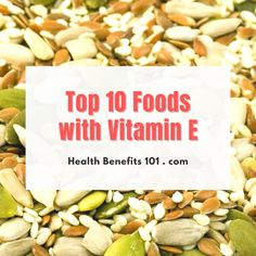 Reard about food rich in vitamin E... Foods With Vitamin E, Benefits Of Vitamin E, Health Benefits, Vitamins, Healthy Recipes, Healthy Eating Recipes, Healthy Food Recipes, Vitamin D, Clean Eating Recipes