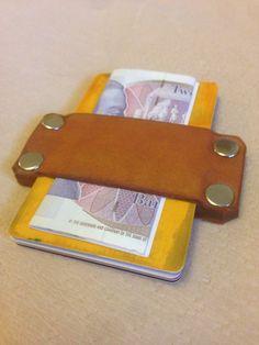 Genuine leather Credit Card Holder. Thin Wallet. Minimalist Wallet ...
