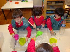 L'eau à l'école maternelle   . Des ateliers sur le thème de l'eau - une séquence en PS  cycle 1 la main à la pâte   1.Que se passe-t-il quand je joue avec de l'eau ?  2.Qu'est-ce que l'eau pour moi ?  3.Quels bruits fait l'eau ?  4.Que fait l'eau avec les autres matière ?  5.Comment fait-on des glaçons ?