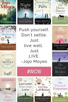 British journalist and romance novelist, Jojo Moyes, is this week's Moyes has been writing since when she publisher her first book Sheltering Rain and she is one of only a few authors to. I Love Books, Good Books, Books To Read, My Books, I Love Reading, Reading Lists, Book Lists, Feminist Books, Reading Material