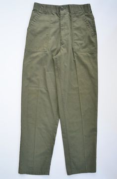Vintage Green Pants Military by founditinatlanta Trouser Pants, Khaki Pants, Vintage Military Uniforms, Military Memorabilia, Military Issue, Vintage Outfits, Vintage Clothing, Fashion Forms, Celebrity Travel