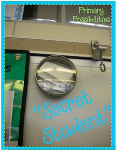 Secret Student - Choose one student per day and place their name in tin. Reveal at the end of the day. Student takes home small certificate if they made good choices.