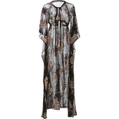 Anna Sui Embroidered Lace Caftan ($750) ❤ liked on Polyvore featuring tops, tunics, black, caftan tunic, kaftan tops, floral tunic, embroidered kaftan and lace tops