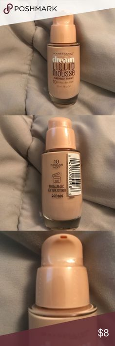 Maybelline Foundation NWT Maybelline Dream Liquid Mousse Airbrush Finish in Porcelain Ivory. Incurred several of them, willing to give a bulk price! Sephora Makeup Foundation