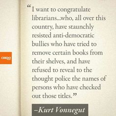 Kurt Vonnegut.  Could not agree more.  If you don't like it, don't read it, or watch it, or whatever