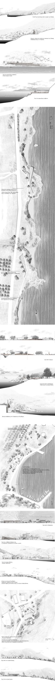 Landscape Architecture Drawing, Landscape And Urbanism, Architecture Panel, Architecture Graphics, Landscape Plans, Architecture Design, Architecture Diagrams, Architectural Section, Architectural Presentation
