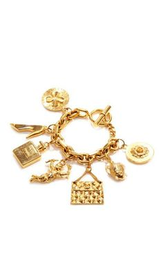 Vintage Chanel Charm Bracelet by What Goes Around Comes Around for Preorder on Moda Operandi