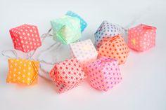 Douce lumière... Le pas à pas de la guirlande lumineuse en origami