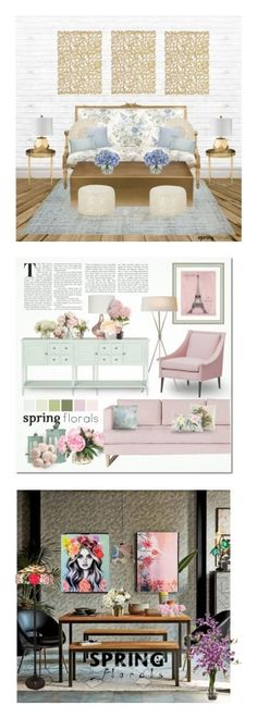 """Winners for Make Your Home Bloom"" by polyvore ❤ liked on Polyvore featuring interior, interiors, interior design, home, home decor, interior decorating, Weissfee, Ethan Allen, Nuevo and Décor 140"