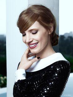 Jessica Chastain Charms in Photo Shoot for YSL Manifesto LEclat Eau De Toilette