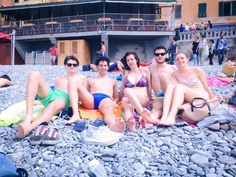Rapallo. Camogli's beach. Sun and Friendship.