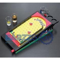Pinball Drinking Game Set - Shot Glasses and Sudsball