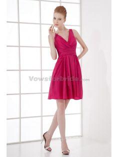 Taffeta V-Neckline A-Line Cocktail Dress