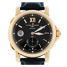 Ulysse Nardin Rose Gold GMT Big Date Wristwatch | 1stdibs.com
